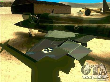 F-5E Tiger pour GTA San Andreas vue arrière
