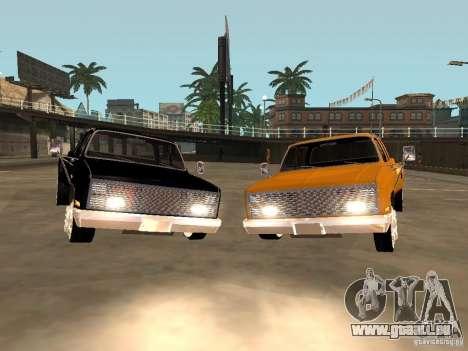 Chevrolet Silverado Lowrider für GTA San Andreas zurück linke Ansicht