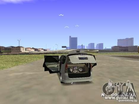 Toyota Avanza Street Edition für GTA San Andreas zurück linke Ansicht