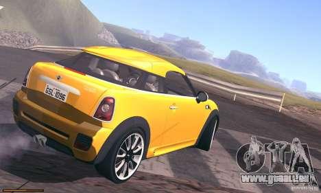 Mini Concept Coupe 2010 pour GTA San Andreas vue intérieure