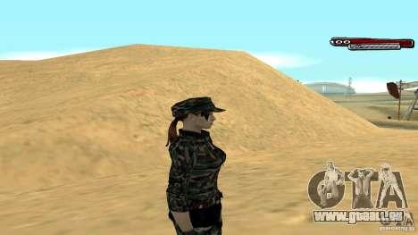 Soldat HD pour GTA San Andreas troisième écran