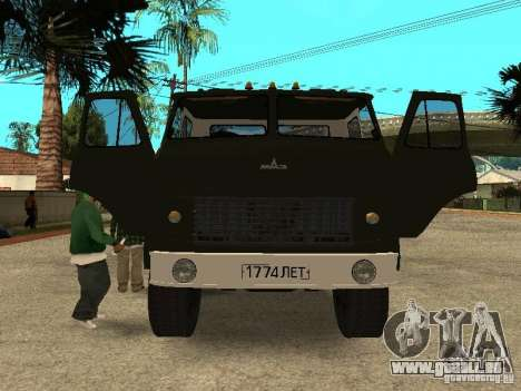 MAZ 515V für GTA San Andreas Innenansicht
