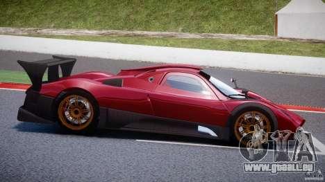 Pagani Zonda R für GTA 4 Seitenansicht