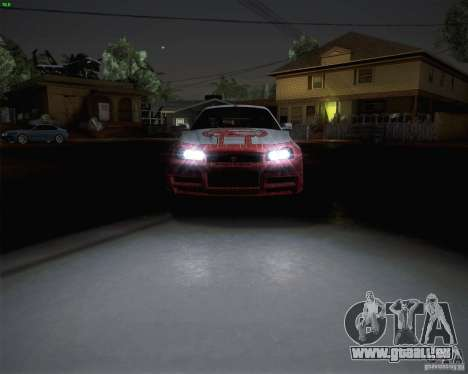 Nissan Skyline Z-Tune v2.0 für GTA San Andreas zurück linke Ansicht