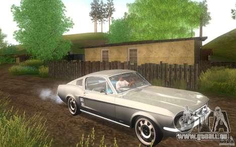 Ford Mustang 1967 American tuning für GTA San Andreas Innenansicht