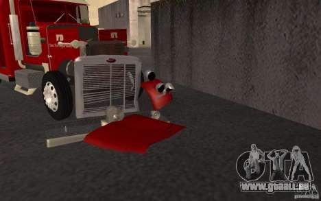 Peterbilt 379 Fire Truck ver.1.0 pour GTA San Andreas vue de dessus