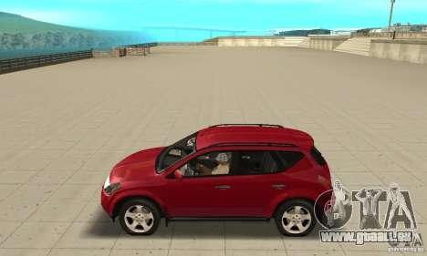 Nissan Murano 2004 pour GTA San Andreas laissé vue