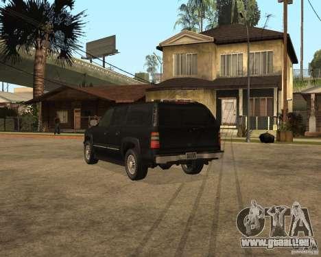 Chevrolet Suburban FBI pour GTA San Andreas laissé vue