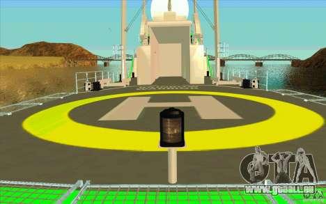 Rainbow Warrior pour GTA San Andreas vue intérieure