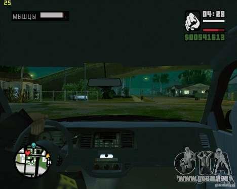 Ford Crown Victoria FBI pour GTA San Andreas vue arrière