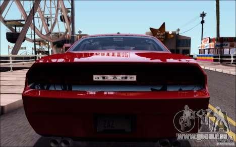 Dodge Challenger Rampage Customs pour GTA San Andreas vue intérieure