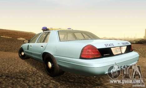 Ford Crown Victoria Maine Police pour GTA San Andreas laissé vue