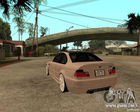 BMW M3 CSL E46 G-Power für GTA San Andreas linke Ansicht
