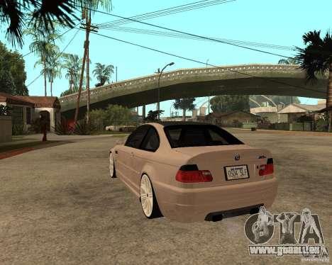 BMW M3 CSL E46 G-Power pour GTA San Andreas laissé vue