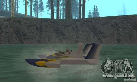 Hydrofoam pour GTA San Andreas sur la vue arrière gauche