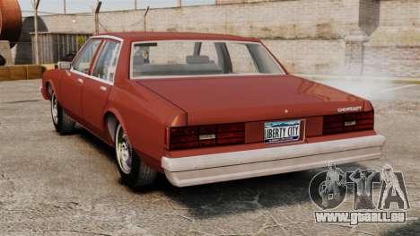 Chevrolet Caprice Classic 1979 pour GTA 4 Vue arrière de la gauche