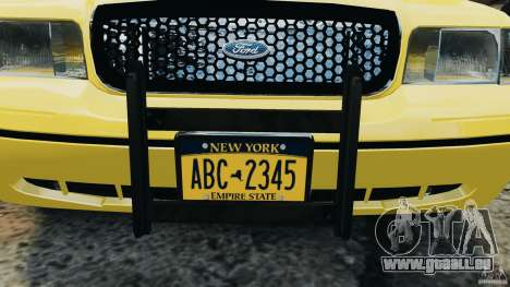 Ford Crown Victoria NYC Taxi 2004 für GTA 4 Innenansicht