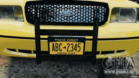 Ford Crown Victoria NYC Taxi 2004 pour GTA 4 est une vue de l'intérieur