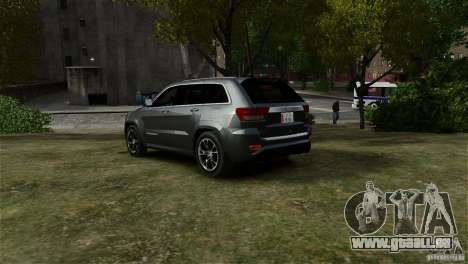 Jeep Grand Cherokee SRT8 für GTA 4 linke Ansicht