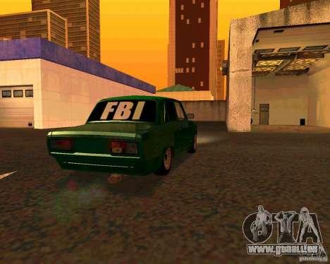 VAZ 2107 Hobo, c. 1 pour GTA San Andreas laissé vue