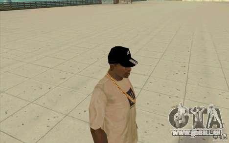 Adidas Baseball Cap-schwarz für GTA San Andreas dritten Screenshot