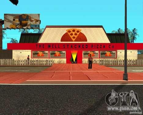 Achat de pizza pour GTA San Andreas
