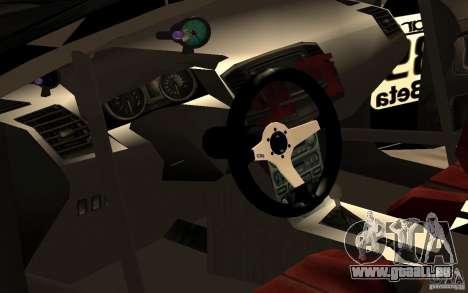 Mitsubishi Lancer Evolution X Monster Energy für GTA San Andreas Innenansicht