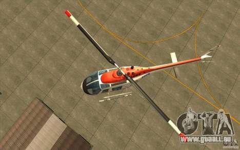 Bell 206 B Police texture2 pour GTA San Andreas vue arrière
