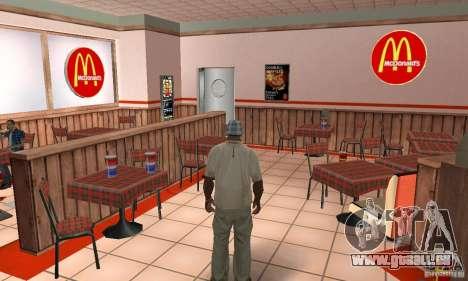 Restaurants McDonals für GTA San Andreas zehnten Screenshot