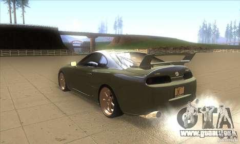 Toyota Supra für GTA San Andreas zurück linke Ansicht