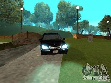 Mercedes-Benz S600 Biturbo 2003 v2 pour GTA San Andreas vue de droite