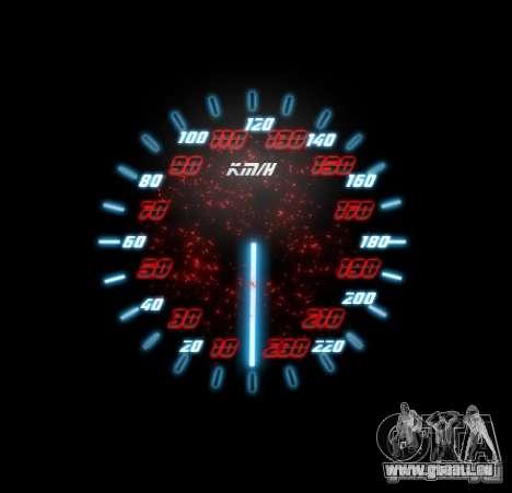 Neon Style Speedometr für GTA San Andreas her Screenshot