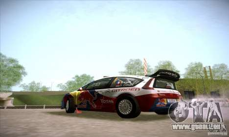 Citroen C4 WRC für GTA San Andreas zurück linke Ansicht