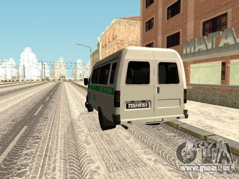 Business 3302 gazelle pour GTA San Andreas sur la vue arrière gauche
