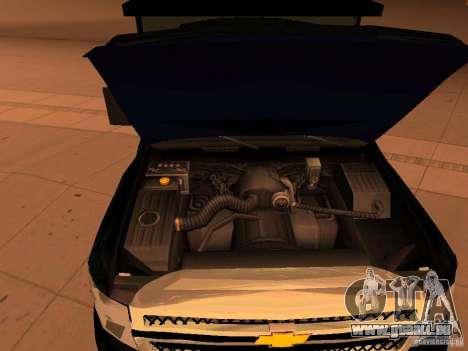 Chevrolet Silverado HD 3500 2012 pour GTA San Andreas vue intérieure