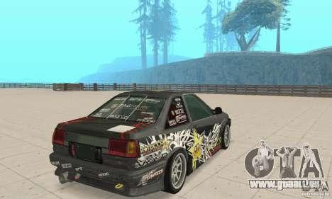 Toyota AE86wrt Rockstar für GTA San Andreas linke Ansicht