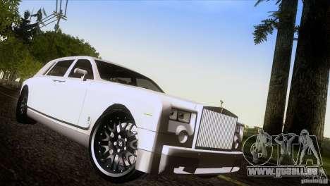 Rolls Royce Phantom Hamann pour GTA San Andreas salon