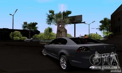 Pontiac G8 GXP pour GTA San Andreas sur la vue arrière gauche