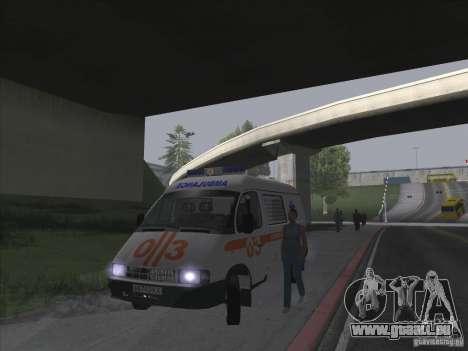 GAZ 22172 ambulance pour GTA San Andreas vue intérieure
