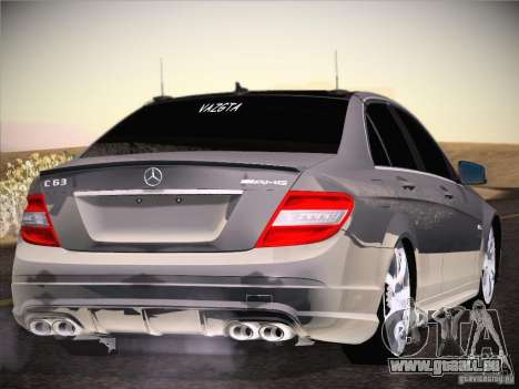 Mercedes-Benz S63 AMG pour GTA San Andreas vue de droite
