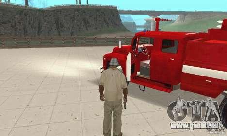 Incendie ZIL-130 pour GTA San Andreas vue arrière
