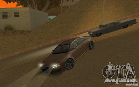 Audi RS6 TT Black Revel pour GTA San Andreas vue intérieure