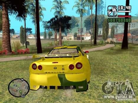 Nissan Skyline 2Fast 2Furious NEW pour GTA San Andreas vue de droite