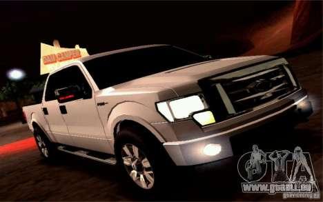 Ford Lobo 2012 für GTA San Andreas Rückansicht