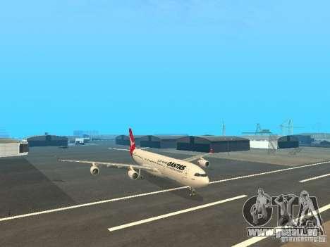 Airbus A340-300 Qantas Airlines pour GTA San Andreas sur la vue arrière gauche