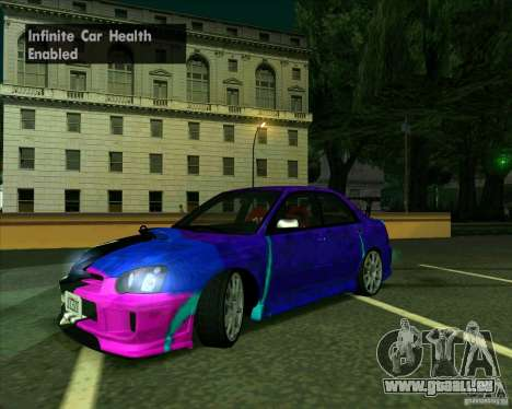Subaru Impreza Tuned pour GTA San Andreas