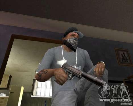 Pistolet avec silencieux pour GTA San Andreas