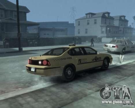 Chevrolet Impala 2003 Taxi pour GTA 4 est un droit