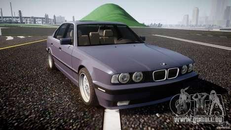 BMW 5 Series E34 540i 1994 v3.0 pour GTA 4 est une vue de l'intérieur
