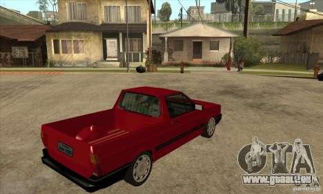 VW Saveiro GL 1989 pour GTA San Andreas vue de droite
